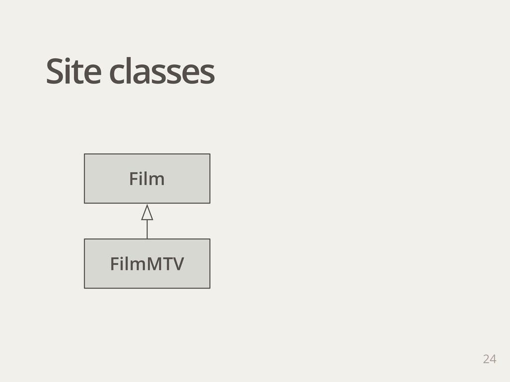 Site classes 24 Film FilmMTV