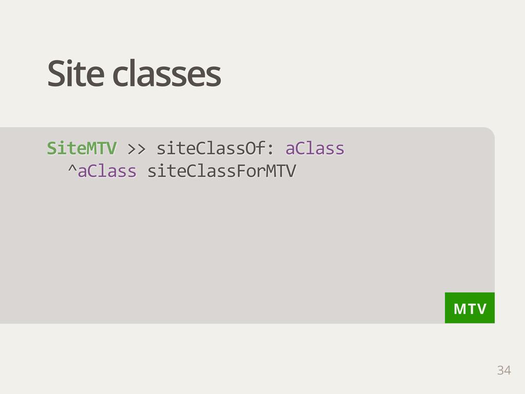 MTV Site classes 34 SiteMTV >> siteClassOf: ...