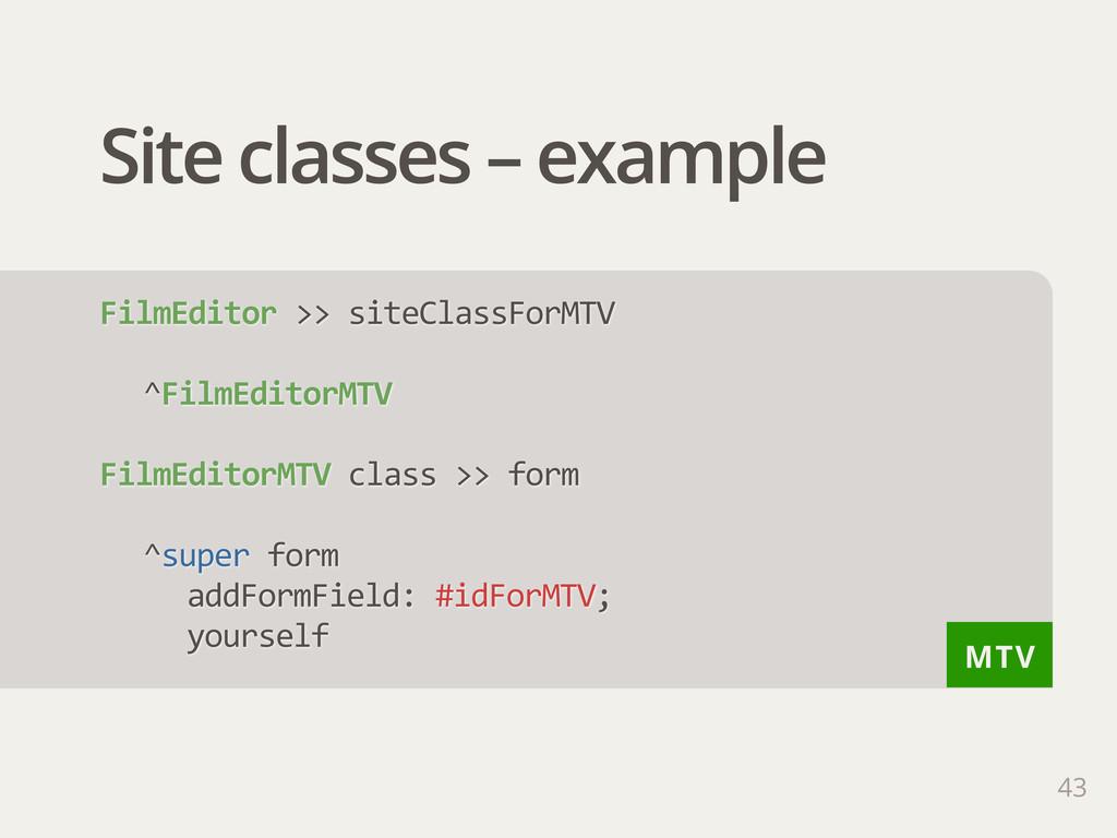 MTV Site classes – example 43 FilmEditor >> s...