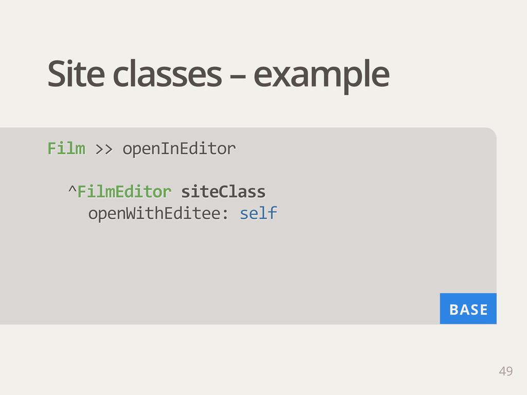 BASE Site classes – example 49 Film >> openIn...