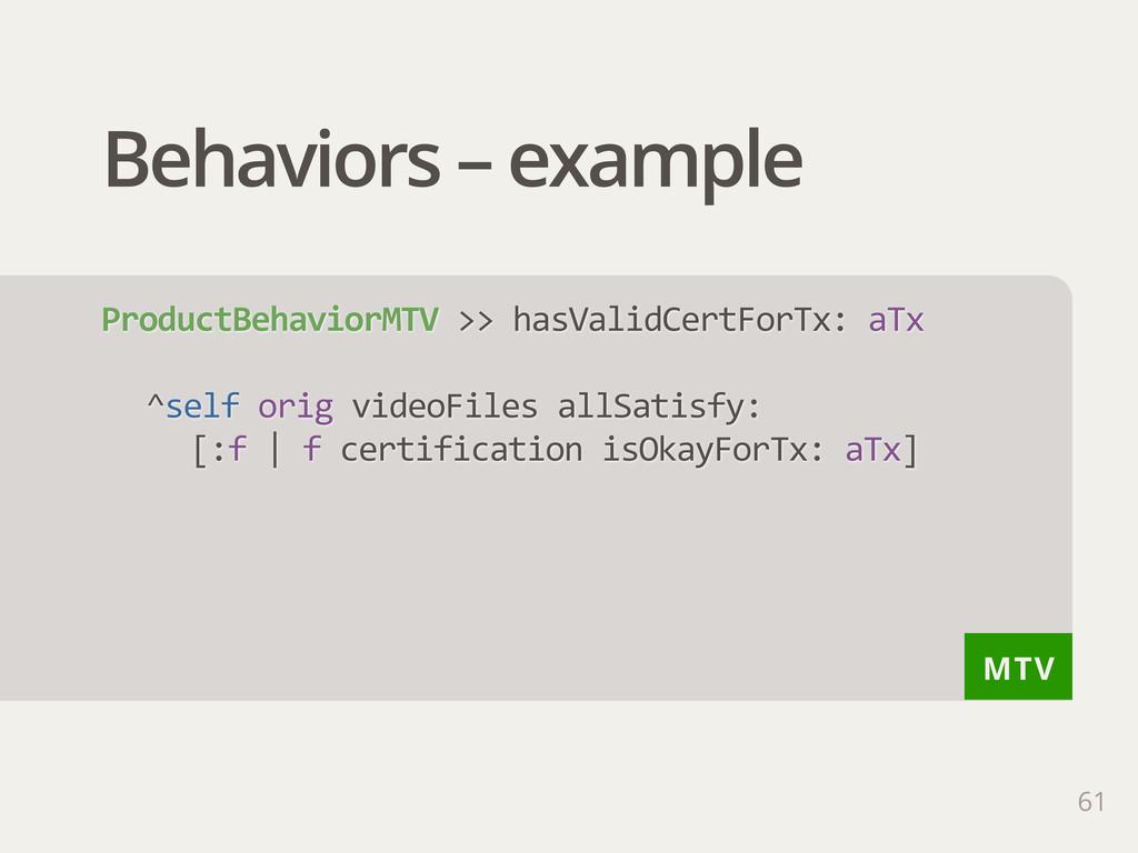 MTV Behaviors – example 61 ProductBehaviorMTV ...