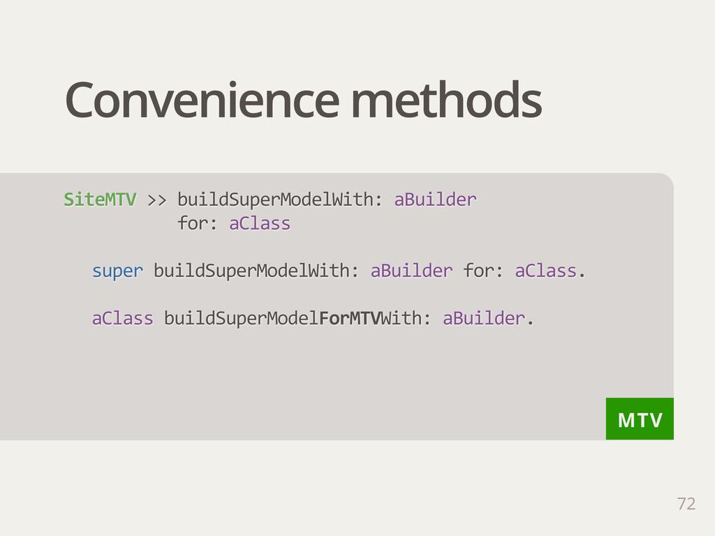 MTV Convenience methods 72 SiteMTV >> buildSu...