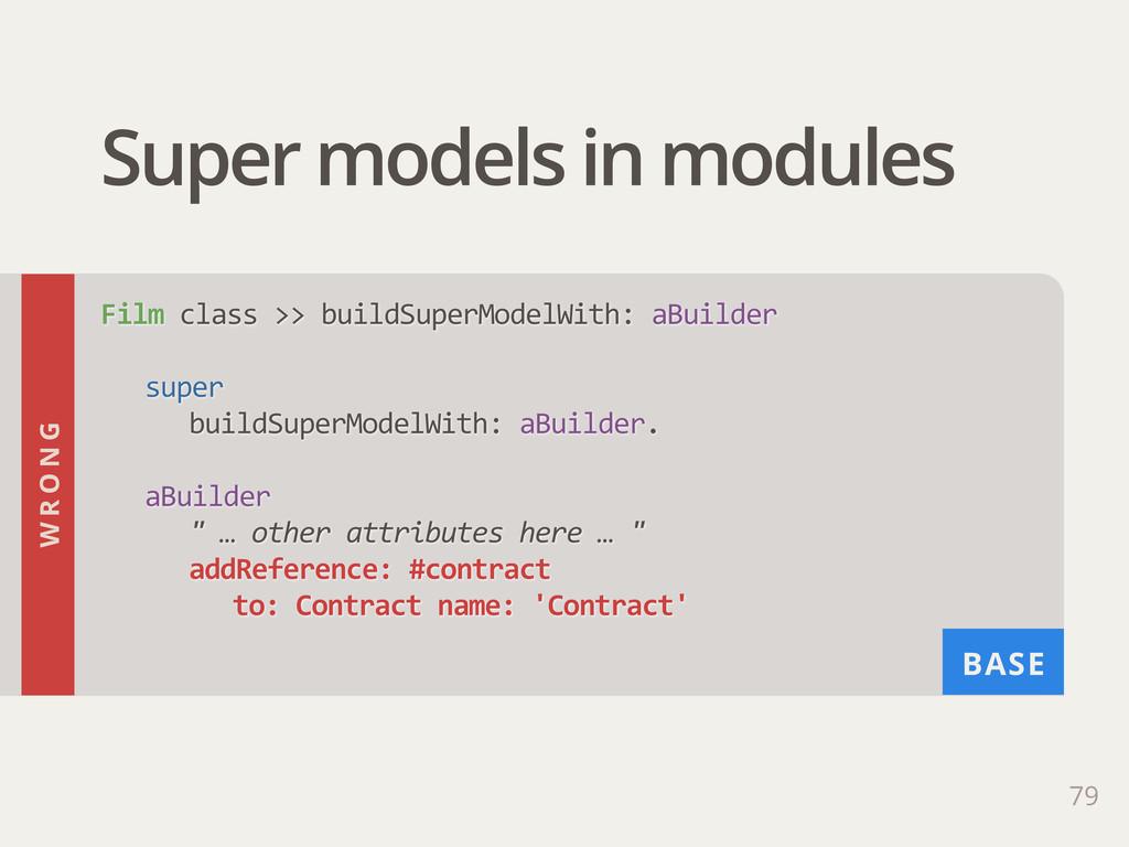BASE Super models in modules 79 Film class >>...
