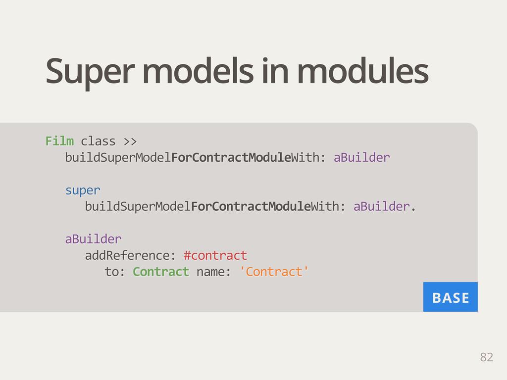BASE Super models in modules 82 Film class >>...