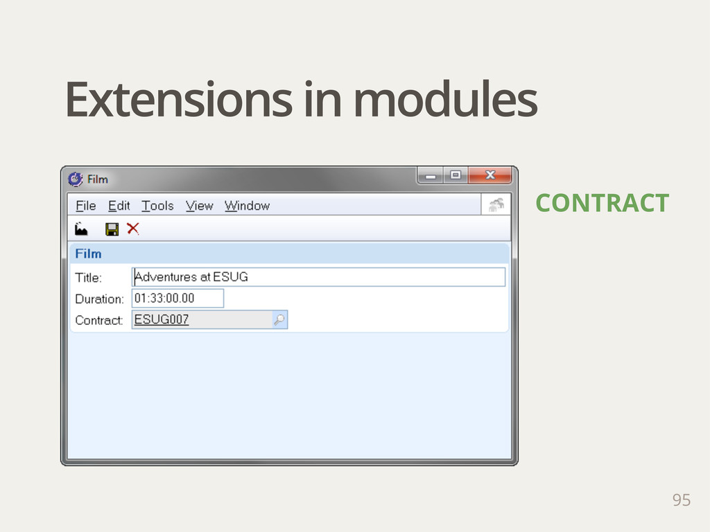 Extensions in modules 95 CONTRACT