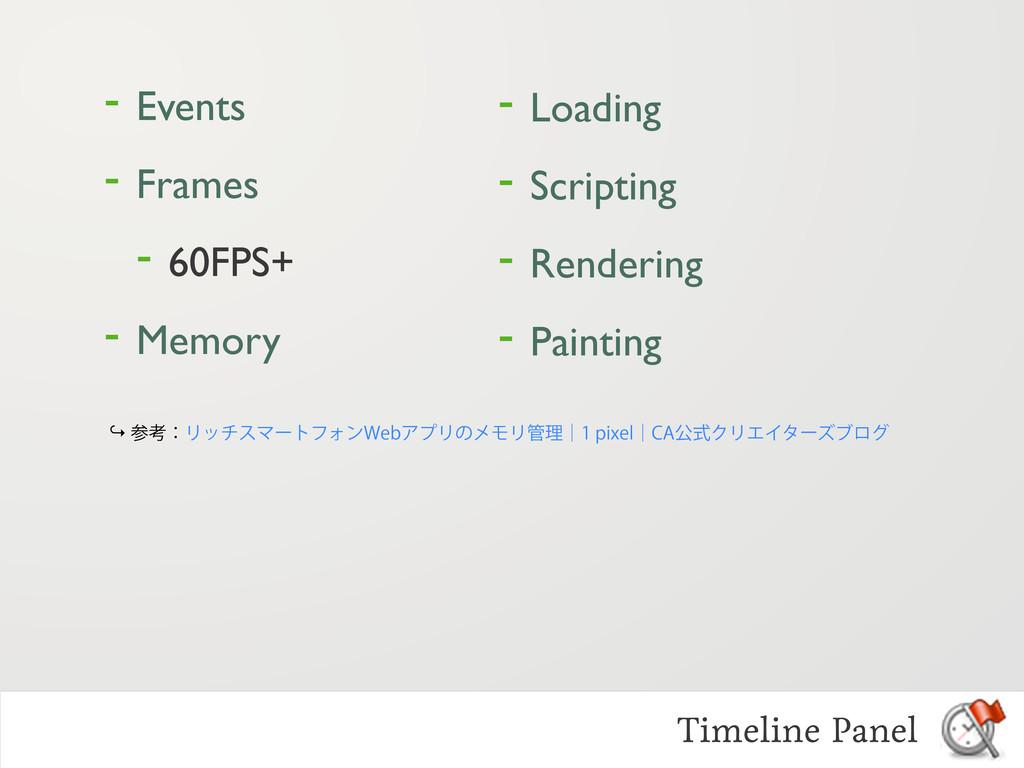 - Events - Frames - 60FPS+ - Memory Timeline Pa...