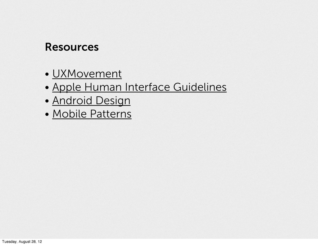 Resources • UXMovement • Apple Human Interface ...