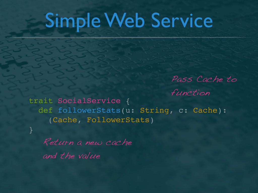 Simple Web Service trait SocialService { def fo...