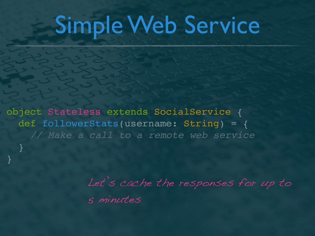 Simple Web Service object Stateless extends Soc...