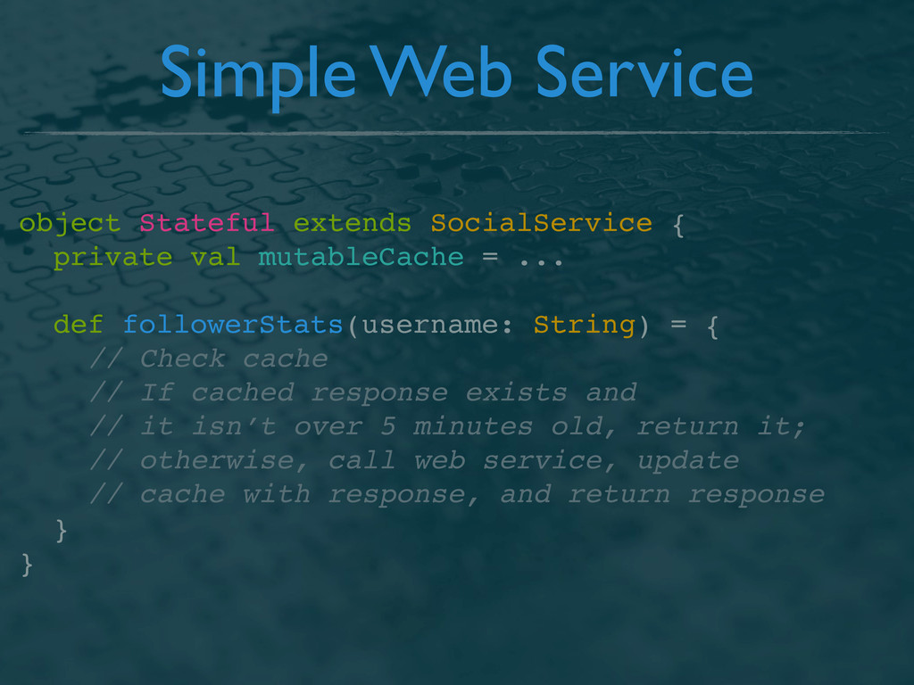 Simple Web Service object Stateful extends Soci...