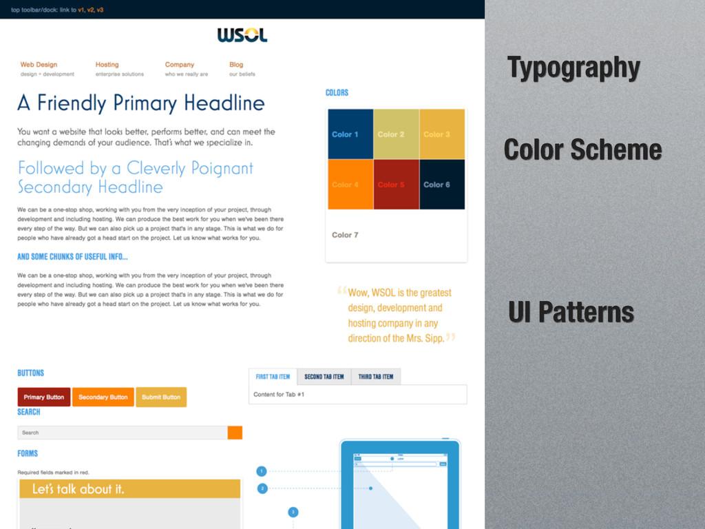 UI Patterns Color Scheme Typography