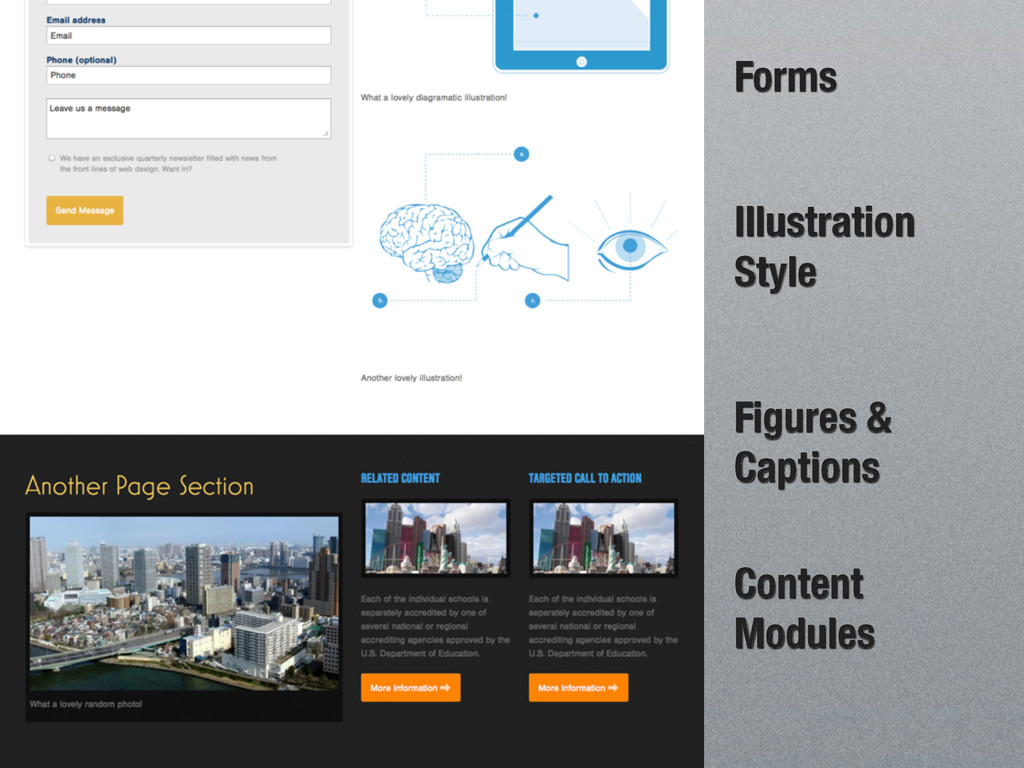 Forms Illustration Style Figures & Captions Con...
