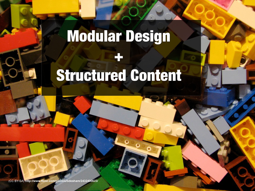Modular Design + Structured Content (CC BY-SA) ...