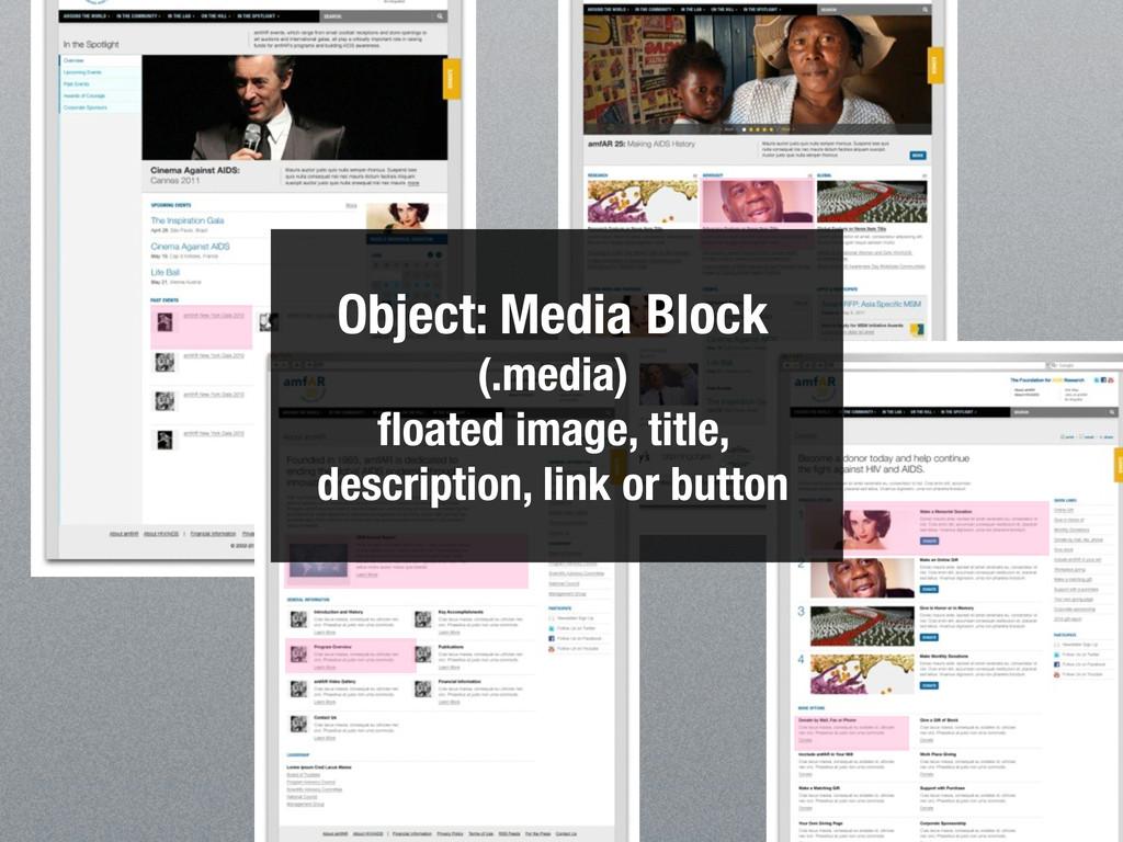 Object: Media Block (.media) floated image, titl...
