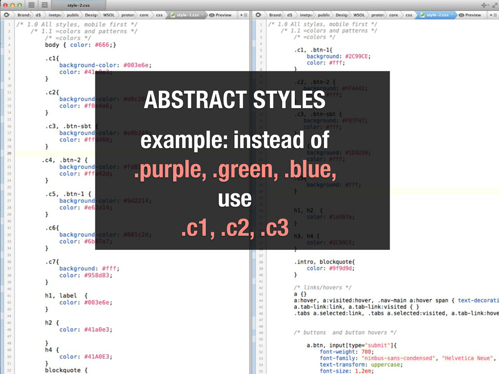 example style.css ABSTRACT STYLES example: inst...