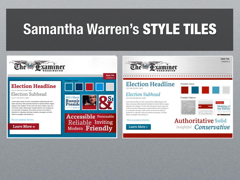 Samantha Warren's STYLE TILES