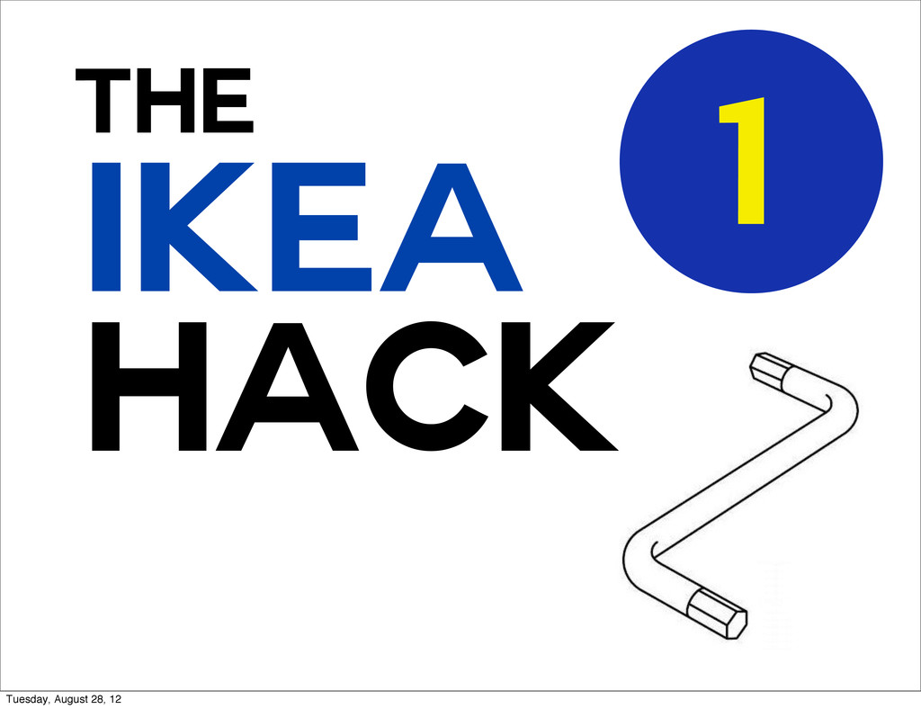 HACK THe IKEA 1 Tuesday, August 28, 12