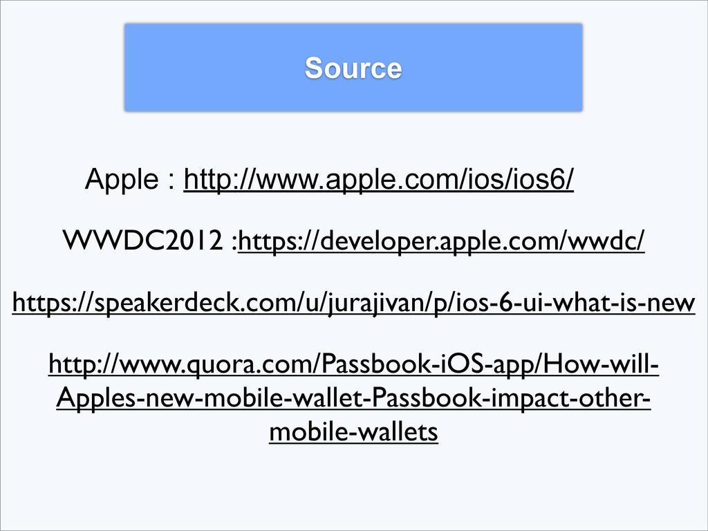 Source Apple : http://www.apple.com/ios/ios6/ W...