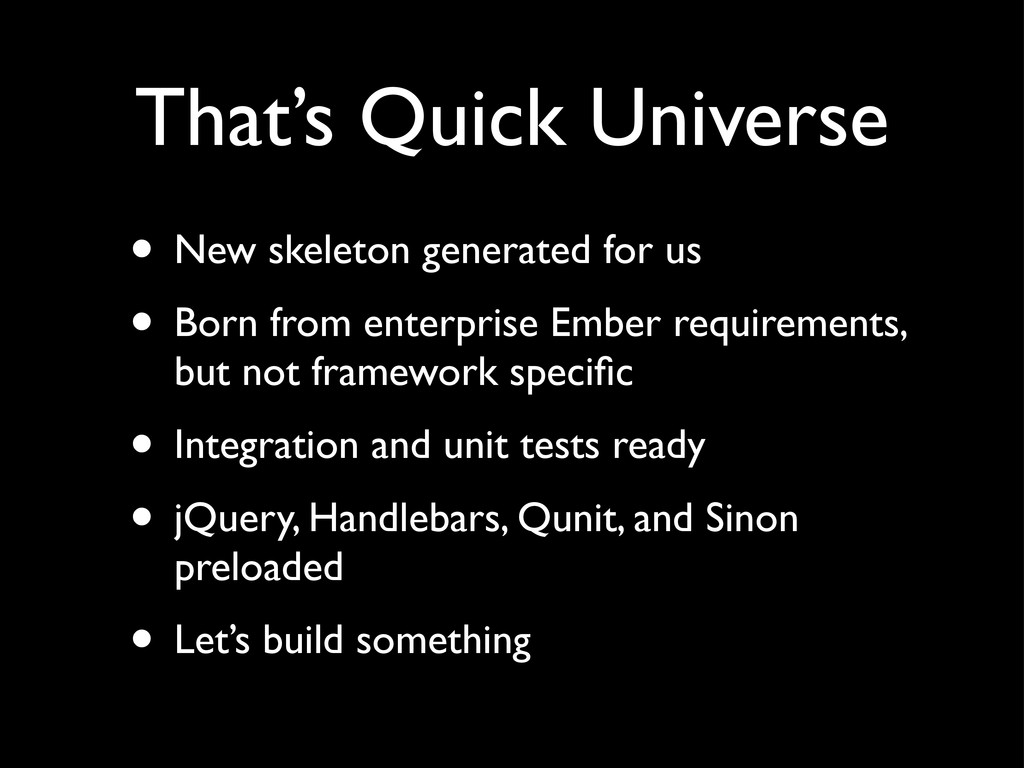 That's Quick Universe • New skeleton generated ...