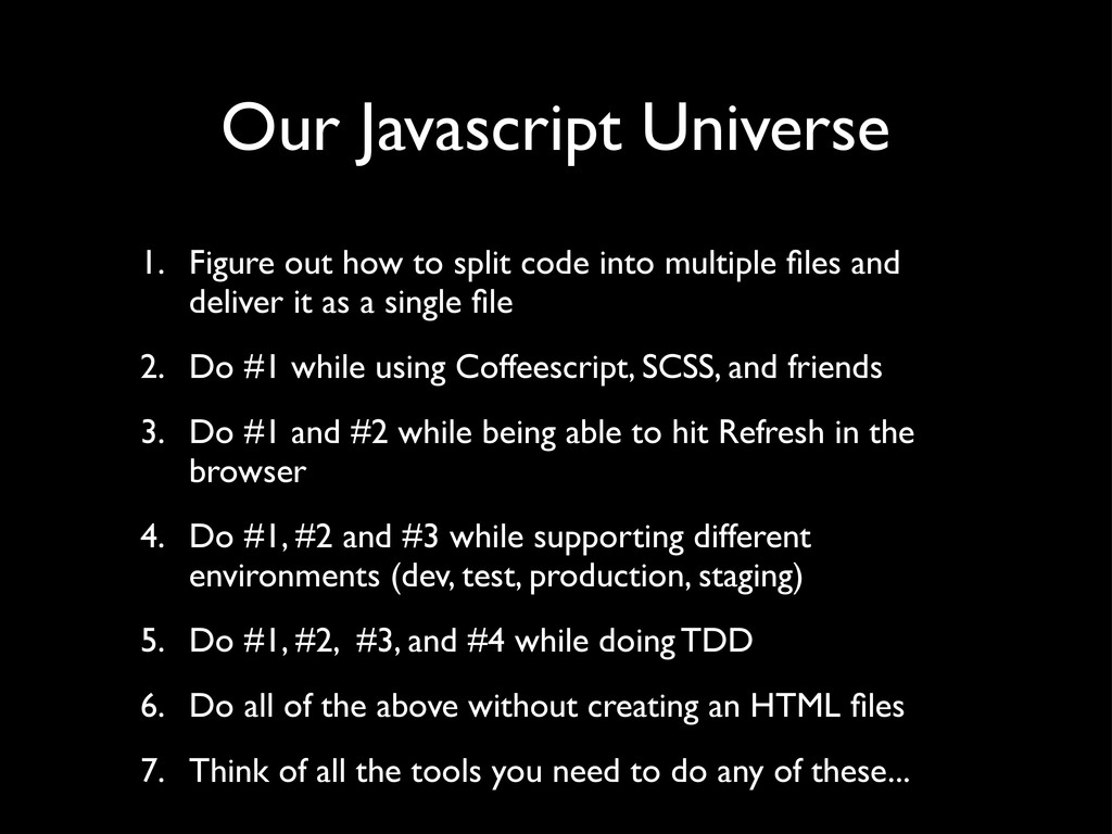 Our Javascript Universe 1. Figure out how to sp...