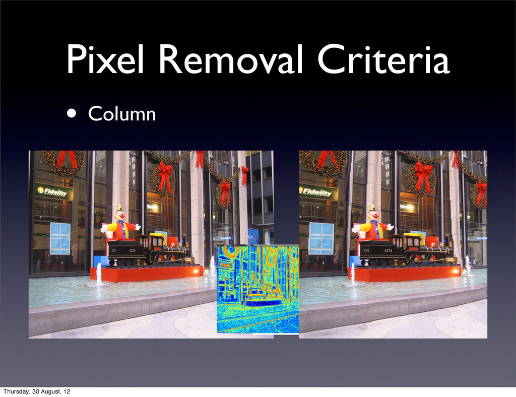 Pixel Removal Criteria • Column Thursday, 30 Au...