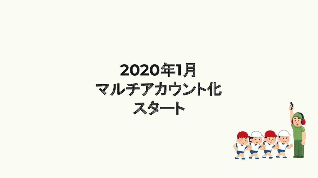 2020年1月 マルチアカウント化 スタート