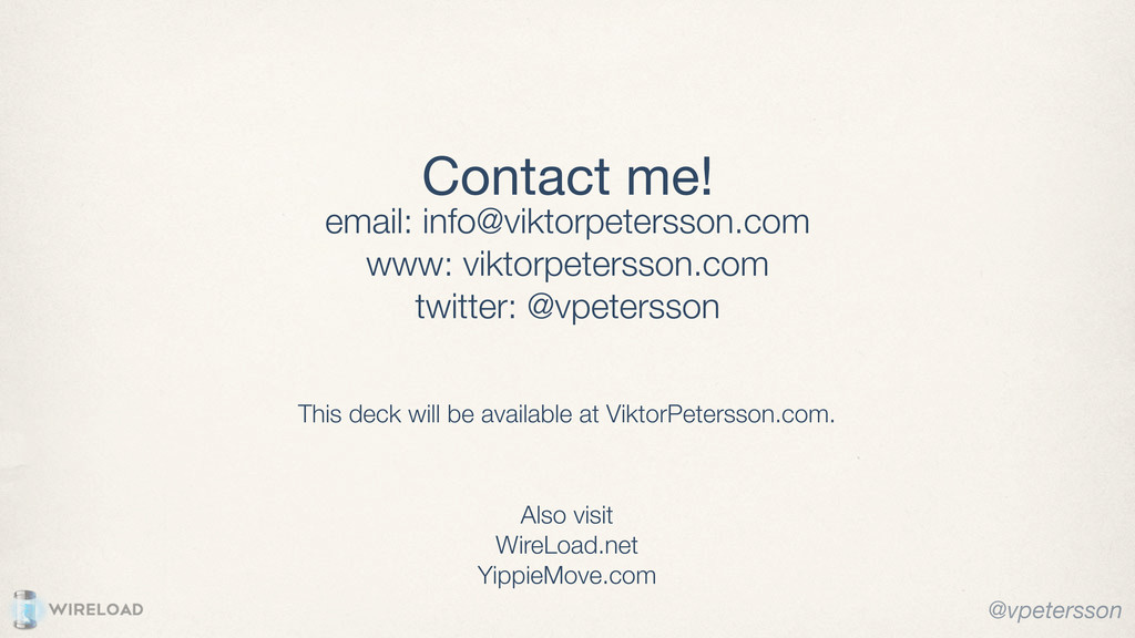 Contact me! email: info@viktorpetersson.com www...