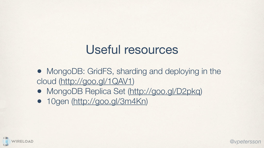 • MongoDB: GridFS, sharding and deploying in th...