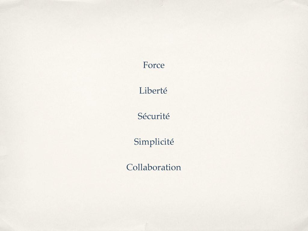 Force Liberté Sécurité Simplicité Collaboration