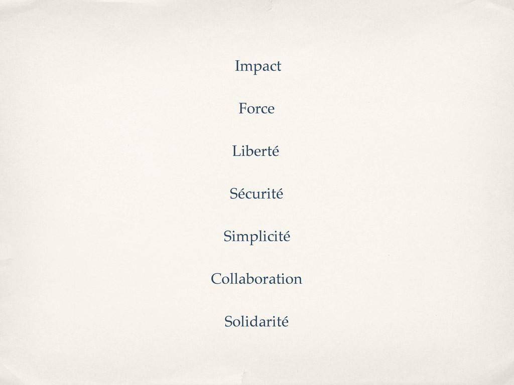 Impact Force Liberté Sécurité Simplicité Collab...
