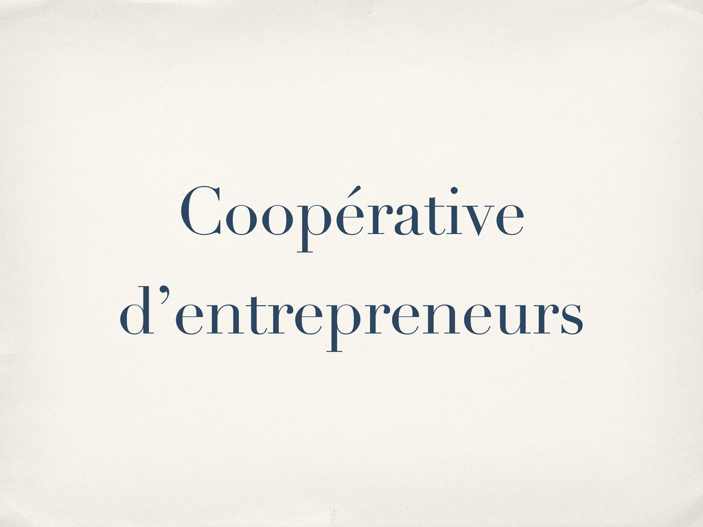 Coopérative d'entrepreneurs