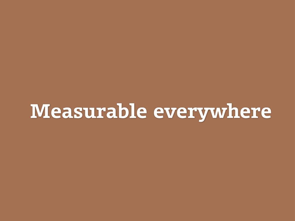 Measurable everywhere