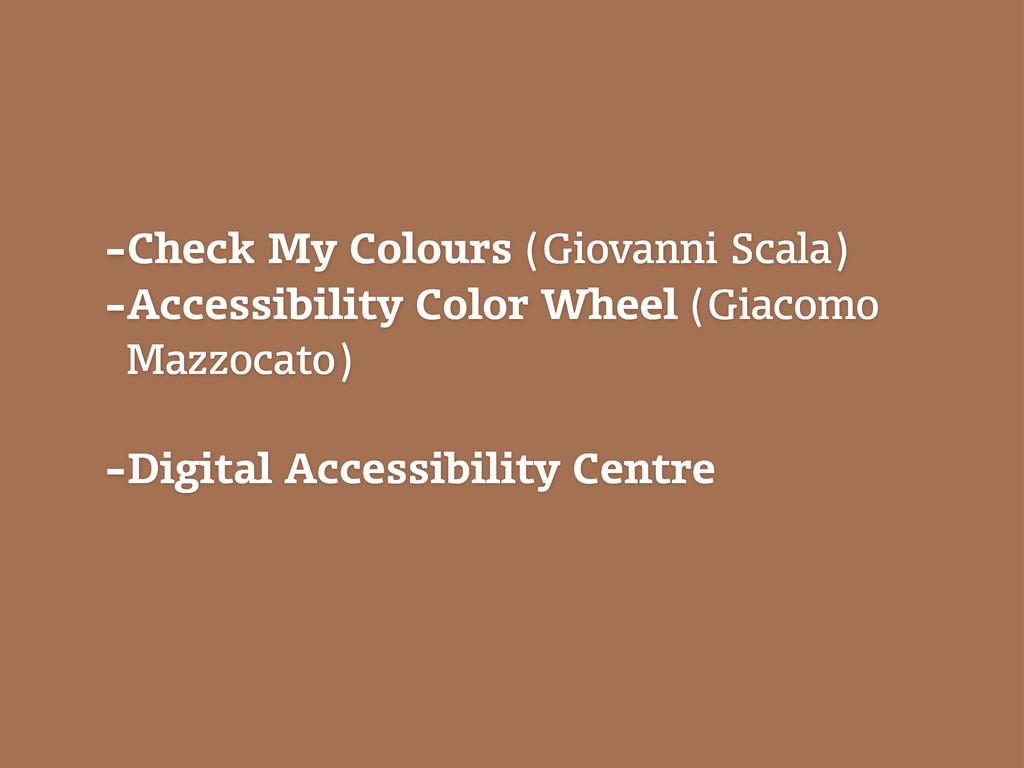 -Check My Colours (Giovanni Scala) -Accessibili...