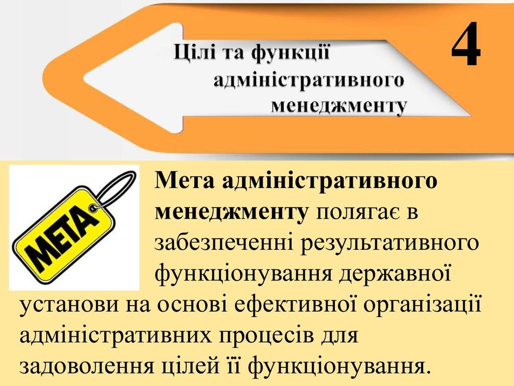 Мета адміністративного менеджменту полягає в за...
