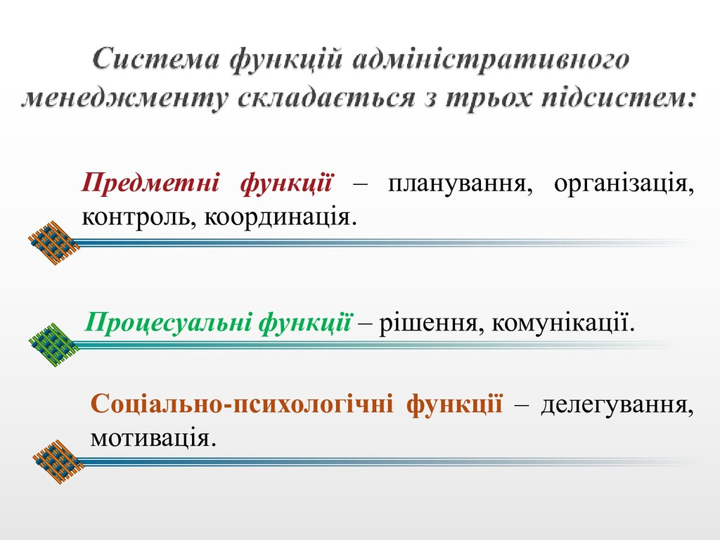 Процесуальні функції – рішення, комунікації. Со...