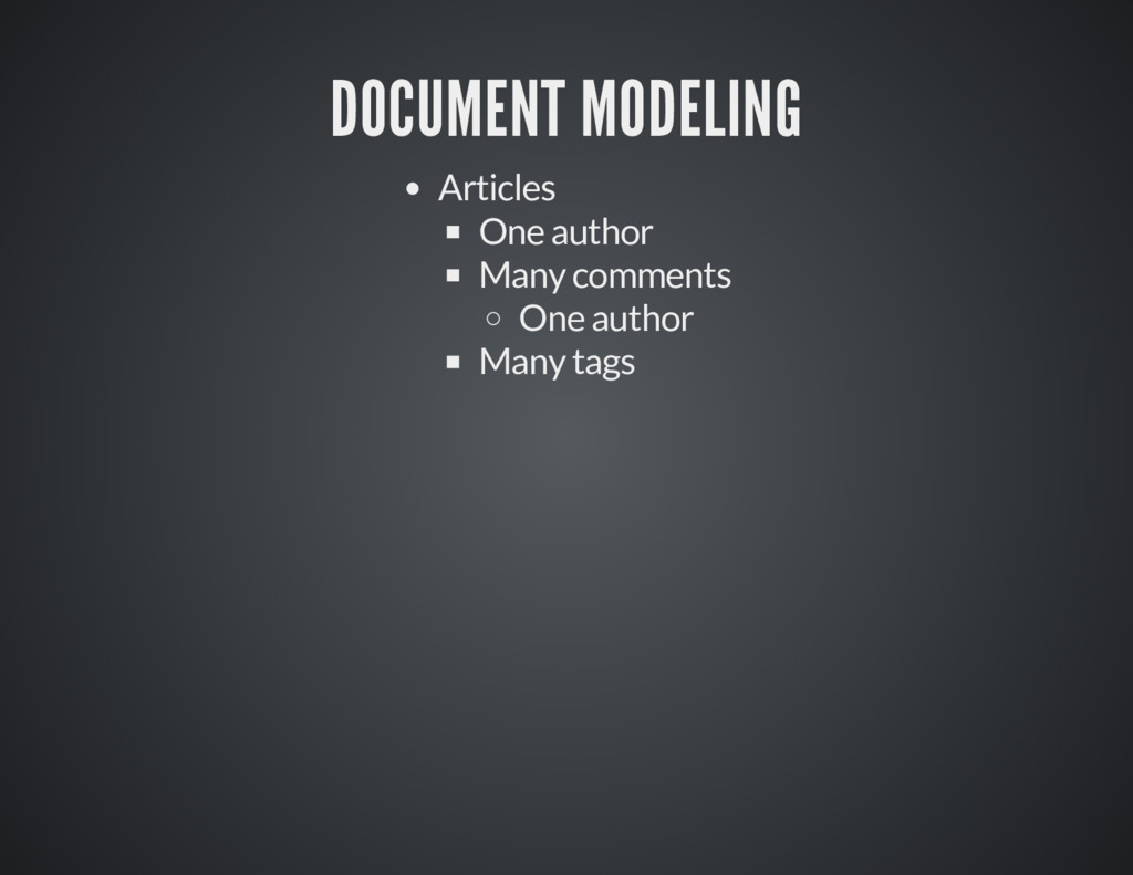 DOCUMENT MODELING DOCUMENT MODELING Articles On...