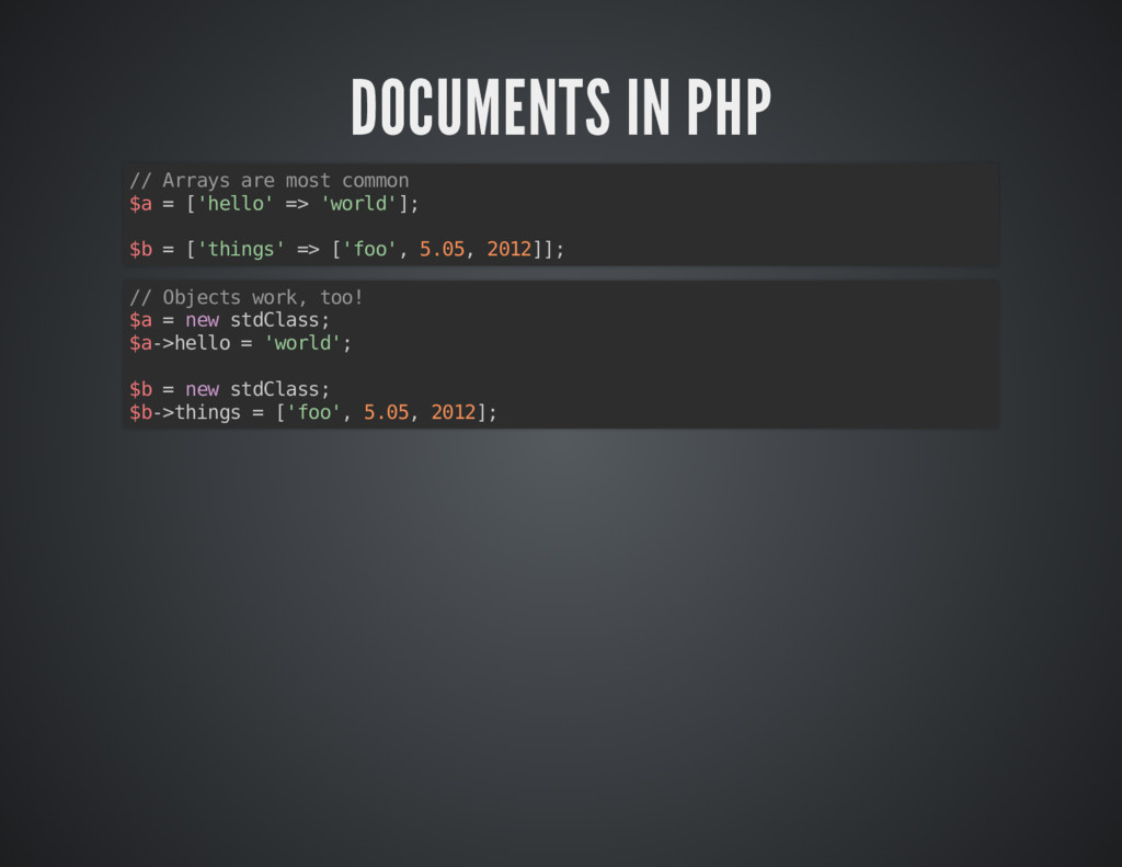 DOCUMENTS IN PHP DOCUMENTS IN PHP // Arrays are...