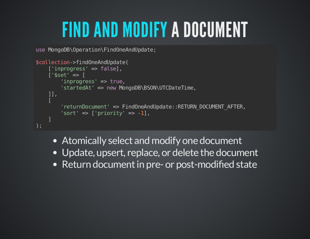 A DOCUMENT A DOCUMENT FIND AND MODIFY FIND AND ...