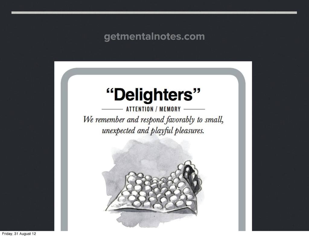 getmentalnotes.com Friday, 31 August 12