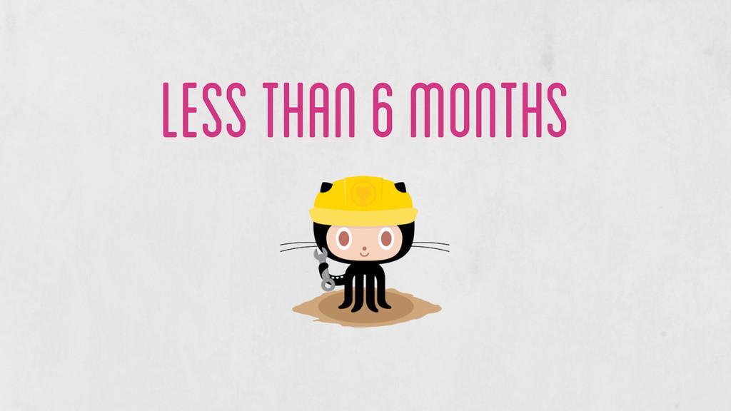 less than 6 months