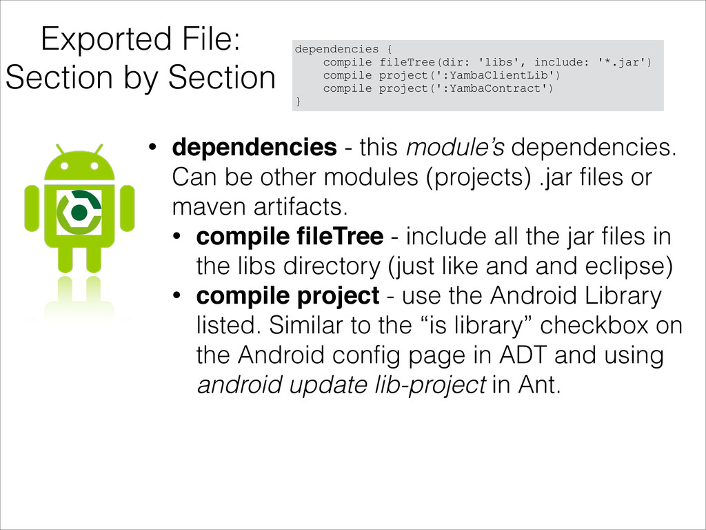 Exported File: Section by Section dependencies ...