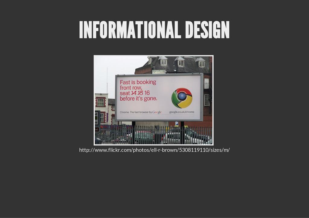 INFORMATIONAL DESIGN http://www.flickr.com/phot...