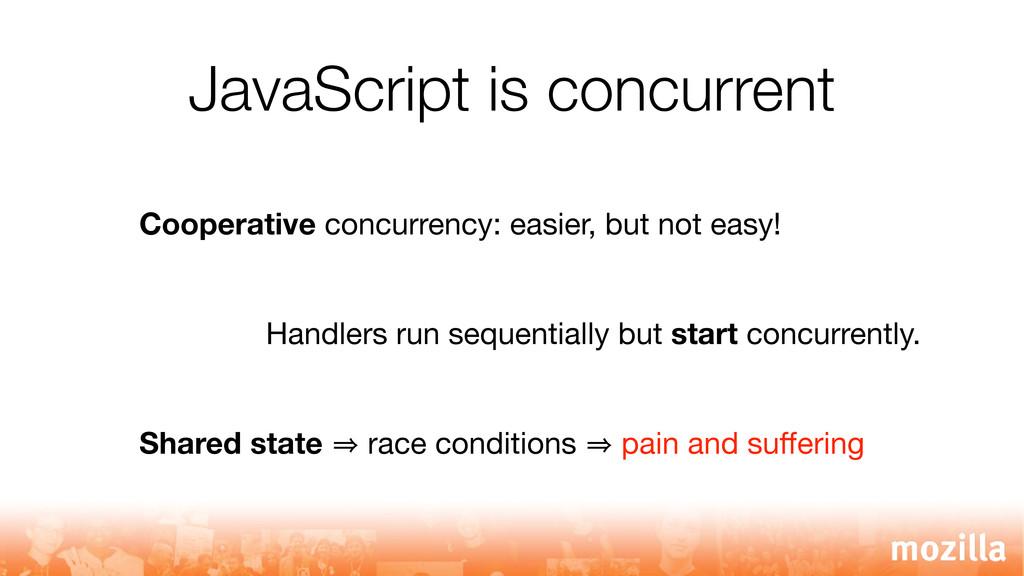 JavaScript is concurrent Cooperative concurrenc...