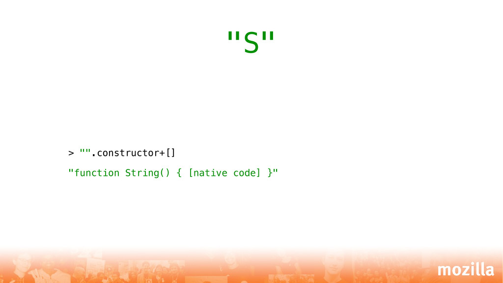 "> """".constructor+[] ""function String() { [nativ..."