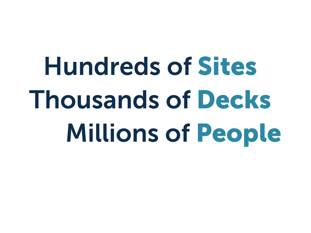 Hundreds of Sites Thousands of Decks Millions o...