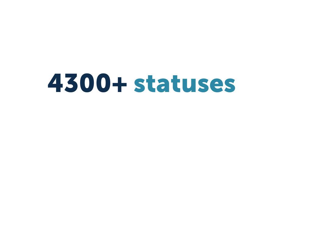 4300+ statuses