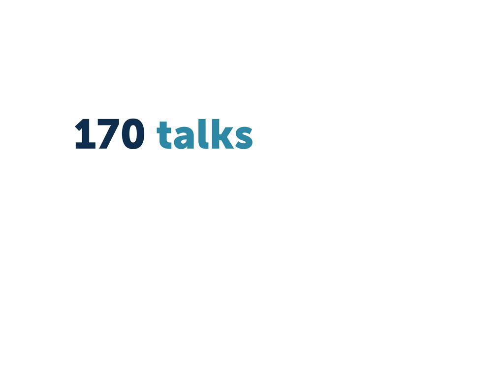 170 talks