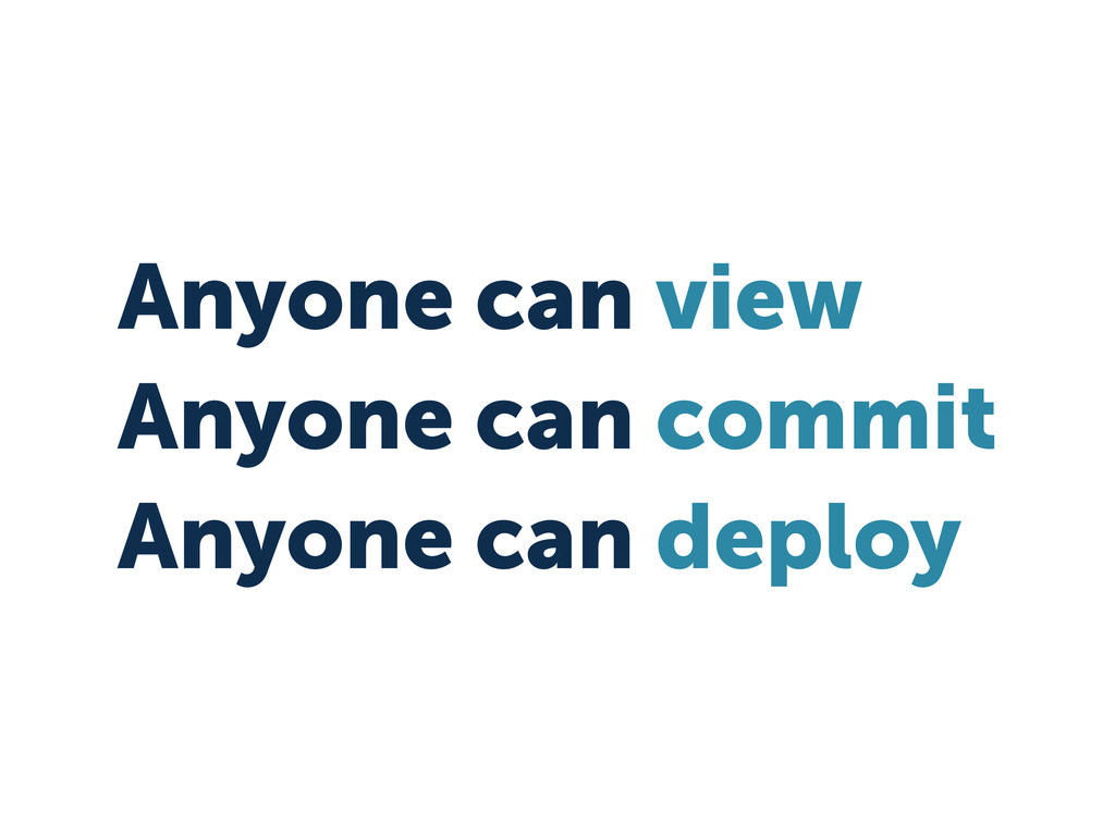 Anyone can view Anyone can commit Anyone can de...