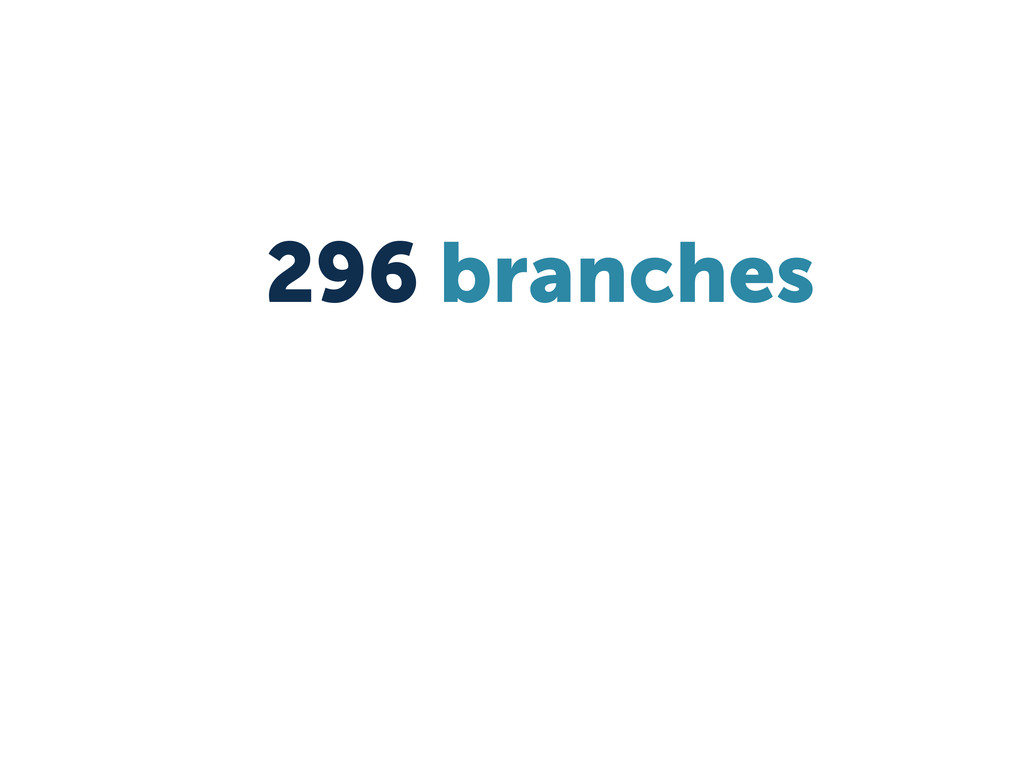 296 branches