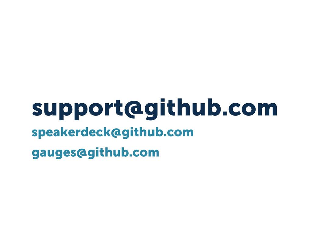 support@github.com speakerdeck@github.com gauge...